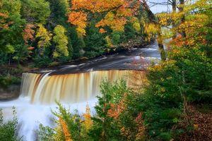 Фото бесплатно природа, лес, верховья водопада Тахкуаменон