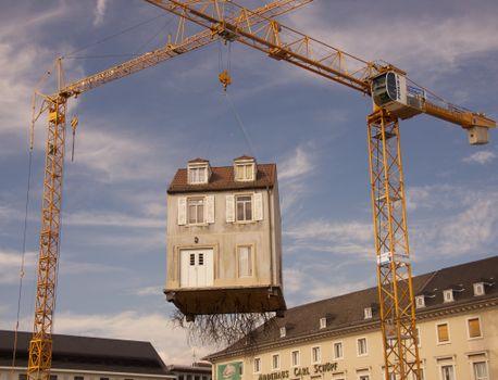 Photo free building, crane, house