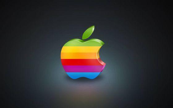 Бесплатные фото iPhone,яблоко,разноцветное,темный фон