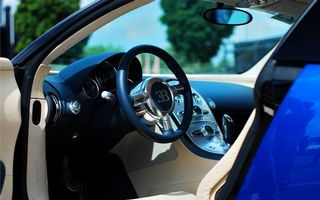 Фото бесплатно бугатти вейрон, салон, руль