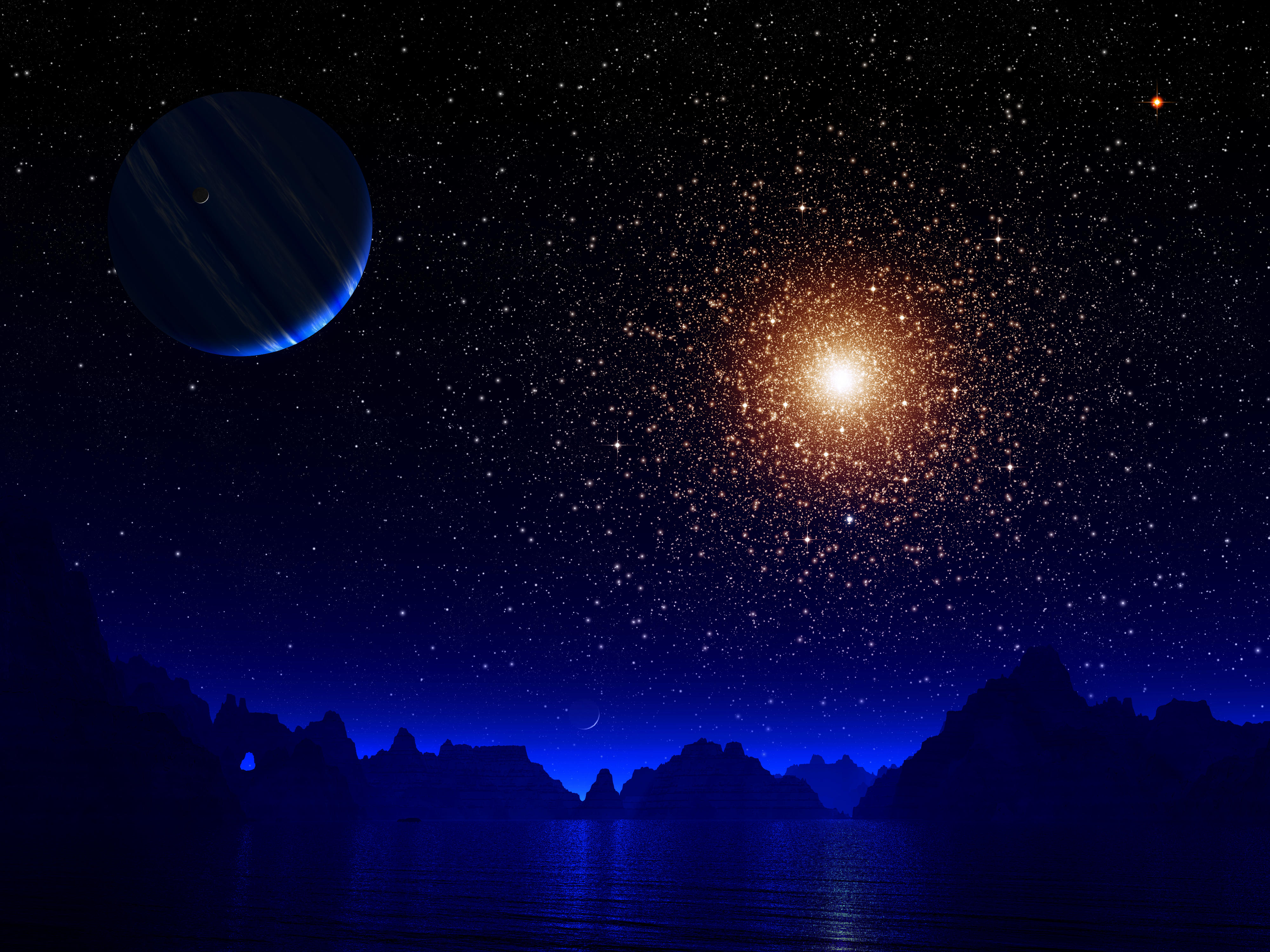 planets and stars - HD3840×2400