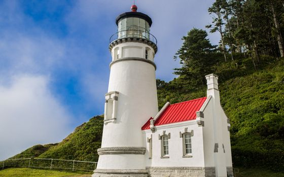 Фото бесплатно маяк, берег моря, гора