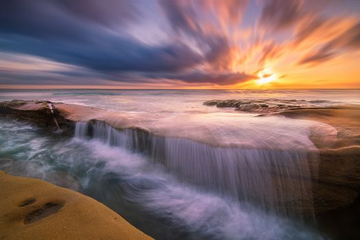Photo free La Jolla, California, sunset