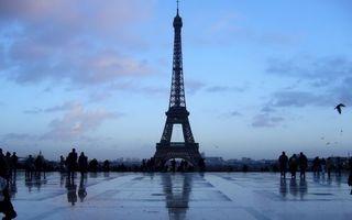 Бесплатные фото париж,эйфелева башня,площадь,люди,птицы,небо