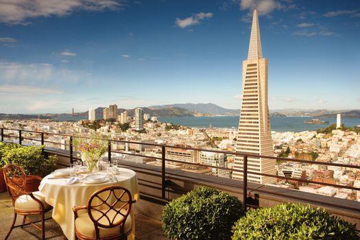 Бесплатные фото Калифорния,вид с небоскреба