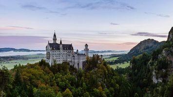 Бесплатные фото Neuschwanstein castle,Замок Нойшванштайн,Германия
