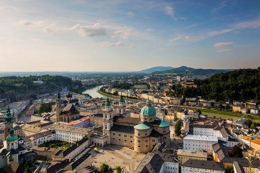 Фото бесплатно Старый город Зальцбург, Австрия