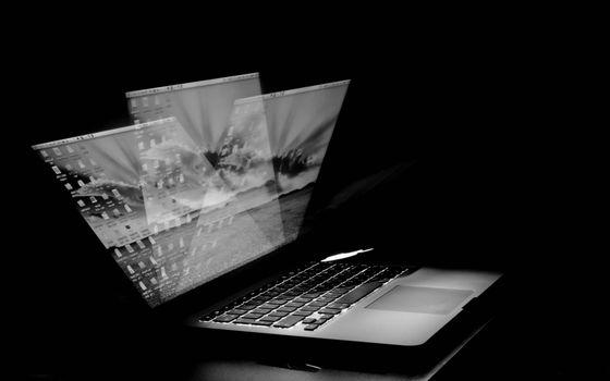 Photo free laptop, screen, keyboard