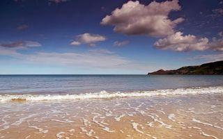 Фото бесплатно берег, горы, море