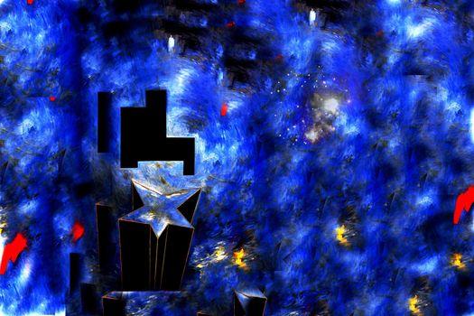 Арт текстура синего цвета