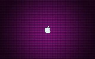 Обои эпл, яблоко, логотип, эмблема, фон сиреневый