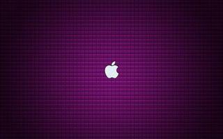 Фото бесплатно эмблема, яблоко, фиолетовый фон