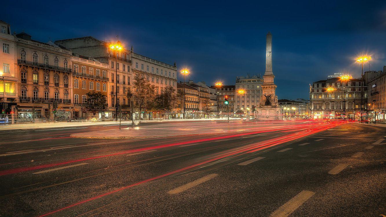 Фото бесплатно Lisbon, Portugal, Лиссабон, Португалия, город, ночь, город