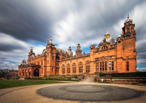 Фото бесплатно Келвингроув музей и художественная галерея в Глазго, Шотландия, город
