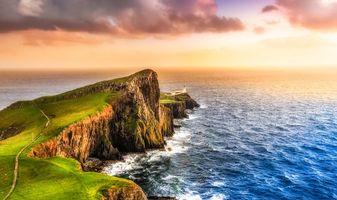 Бесплатные фото Остров Скай, Шотландия, Великобритания, закат, море, пейзаж