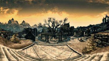 Фото бесплатно skyrim whiterun, компьютерная графика, игры
