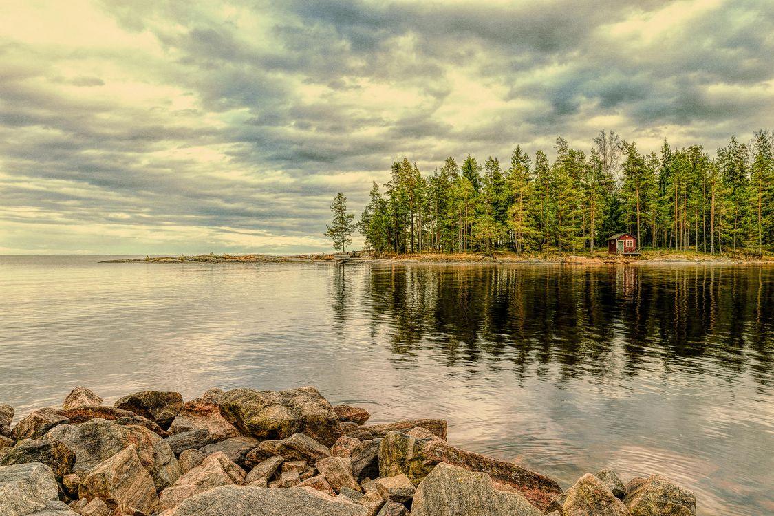 Фото бесплатно Вермланда, Швеция, Природа, Пейзаж, закат, морской пейзаж, коттедж, пейзажи