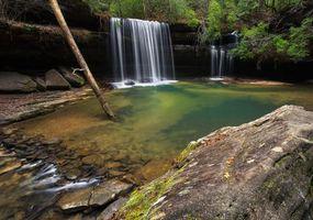 Заставки водоём, водопад, скалы