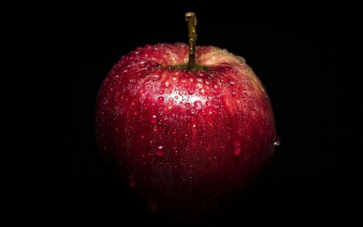 Фото бесплатно яблоко, красное, мокрое - на рабочий стол