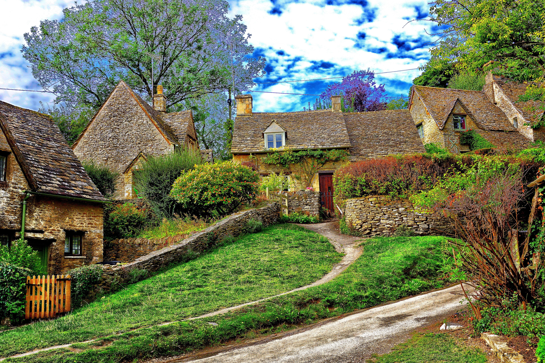 дом в Котсуолд, Англия, пейзаж