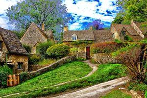 Фото бесплатно дом в Котсуолд, Англия, пейзаж