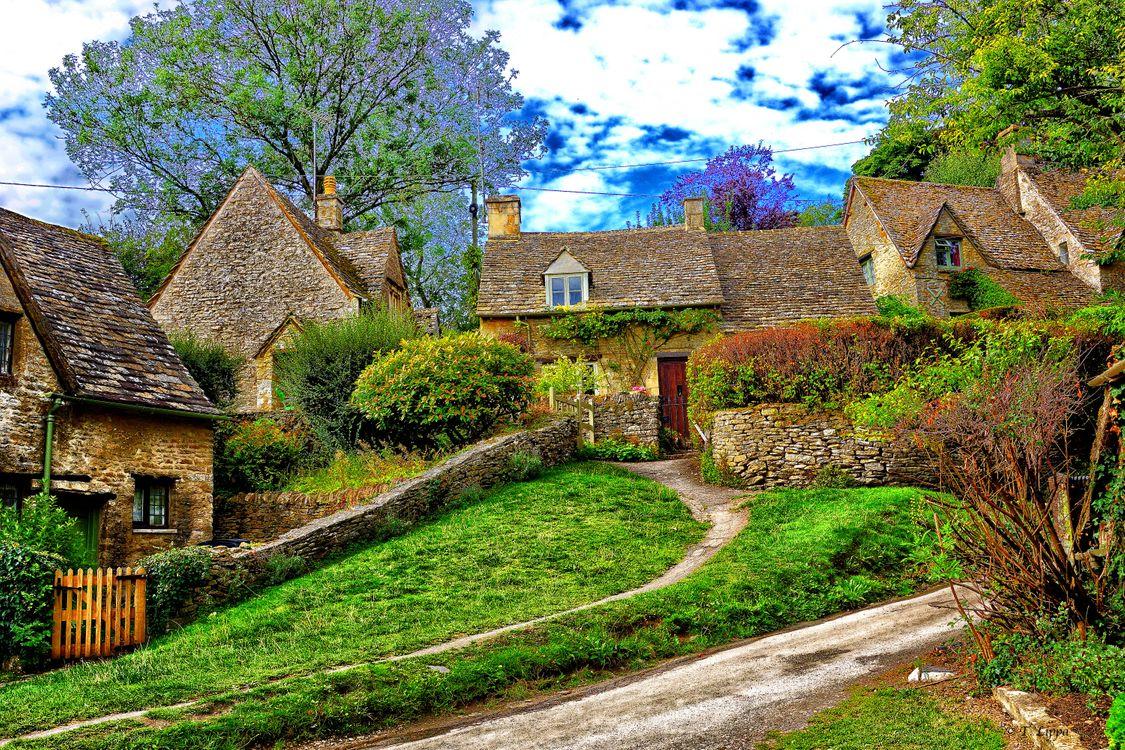 Фото бесплатно дом в Котсуолд, Англия, пейзаж - на рабочий стол