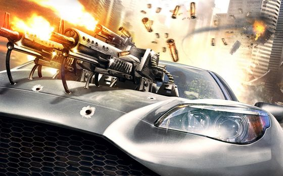 Фото бесплатно машина, капот, оружие