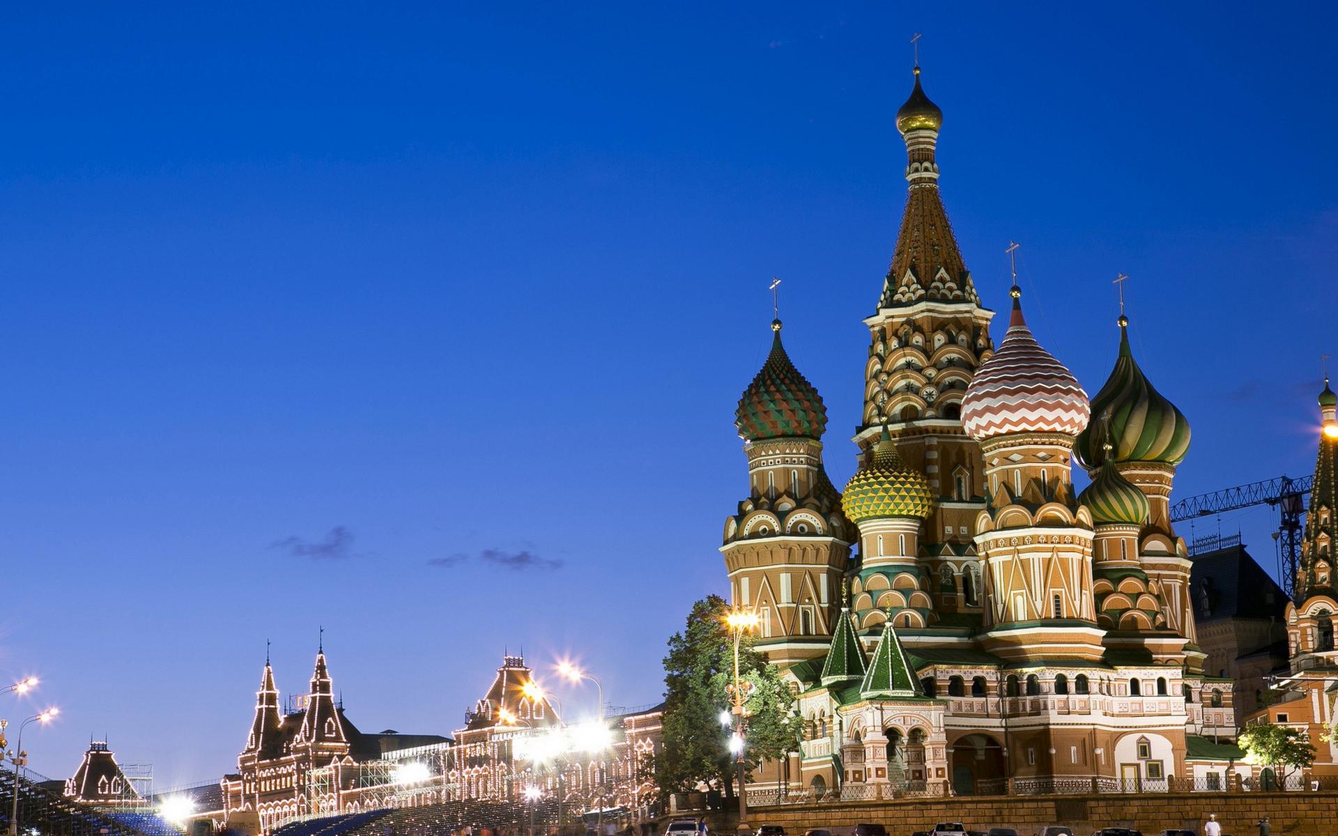 вечер, Москва, красная площадь