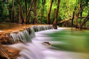 Бесплатные фото Канчанабури, Таиланд, водопад, каскад, река, деревья, природа