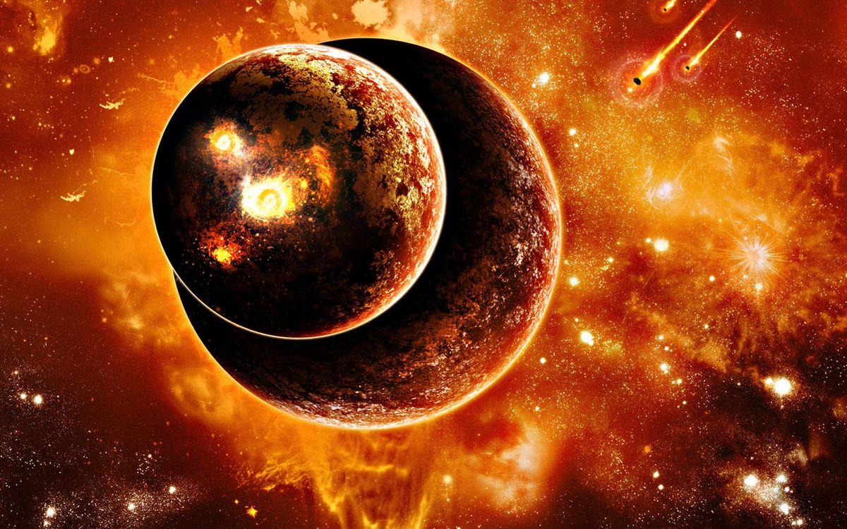 Фото бесплатно планеты, метеориты, звезды, свечение, невесомость, вакуум, космос