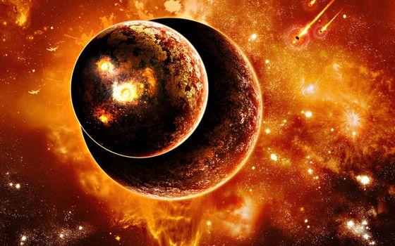 Бесплатные фото планеты,метеориты,звезды,свечение,невесомость,вакуум