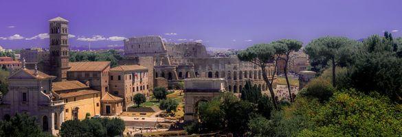 Бесплатные фото Колизей,форум,Рим,Италия,археология,город,деревья