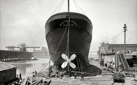 Фото бесплатно док, корабль, ремонт