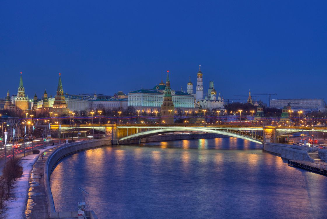 Free photo Moscow river, The Kremlin, Russia - to desktop