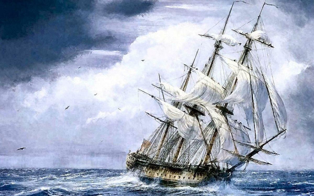 Фото бесплатно рисунок, море, шторм - на рабочий стол