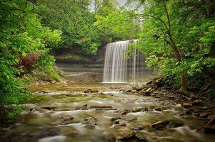 Бесплатные фото bridal veil falls,kagawong,manitoulin island,ontario,водопад,речка,лес