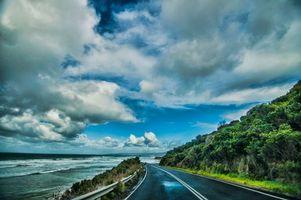 Фото бесплатно Great Ocean Road, Виктория, Австралия, море, дорога, деревья, пейзаж