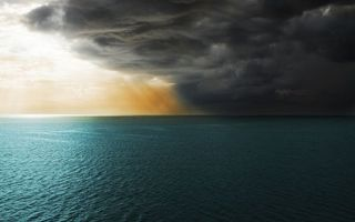 Бесплатные фото море,горизонт,тучи,солнце,лучи,природа