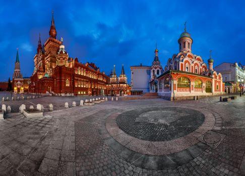 Фото бесплатно Панорама Красной площади, Кремль, Исторический музей