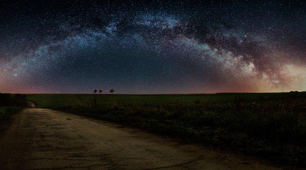 Заставки дорога,космос,пейзаж,галактика,Млечный Путь,планета,Земля,путь,ночь,звёзды,природа