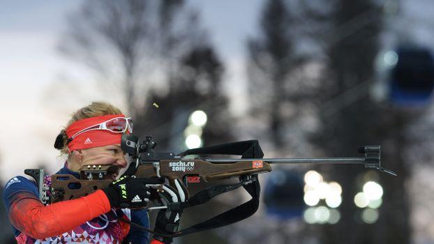Photo free biathlon, athlete, glasses