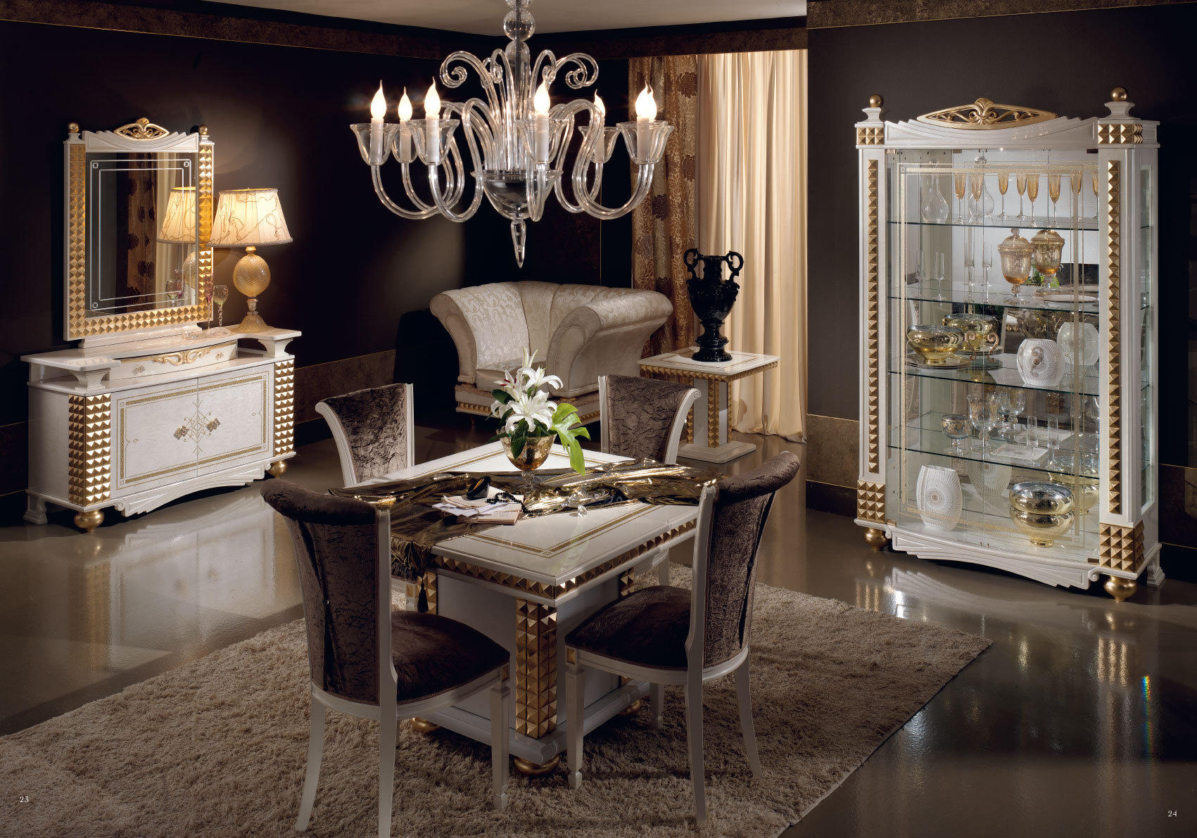 Обои интерьер, гостиная, мебель, стол стулья