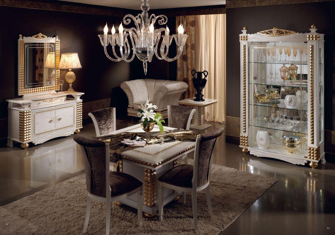 Фото бесплатно интерьер, гостиная, мебель, стол стулья, люстра, роскошь - на рабочий стол