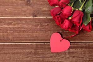 Фото бесплатно Романтический день, розы, валентинка