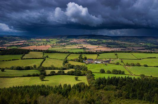 Фото бесплатно Шропшир, Великобритания, поля