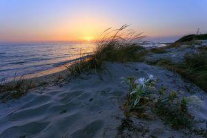 Бесплатные фото закат,море,берег,пляж,пейзаж