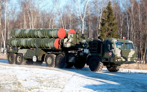 Photo free tractor, missile system, s-400