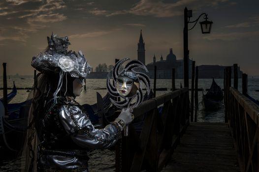 Заставки Венецианские маски, венецианский карнавал, маски