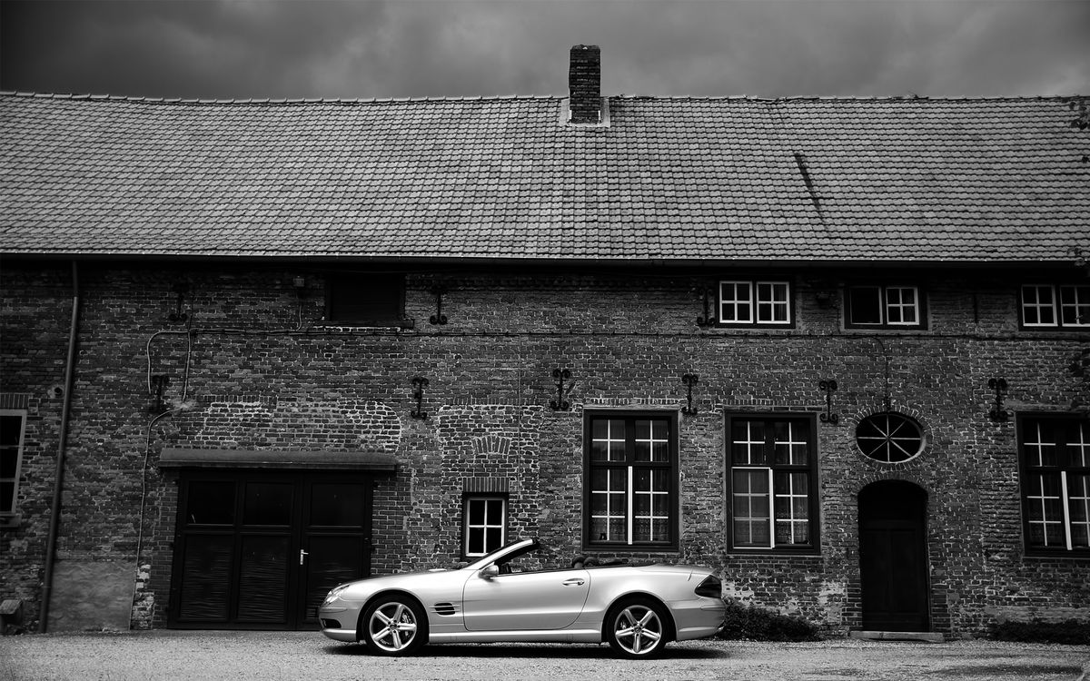 Photos for free Mercedes, cabriolet, silver - to the desktop