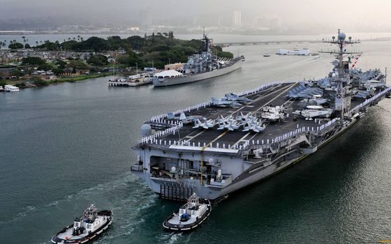 Photo free aircraft carrier, deck, superstructure